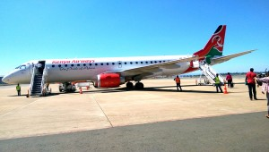 Leaving Nairobi again.