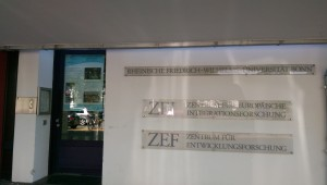 ZEF main entrance with our workshop poster on display