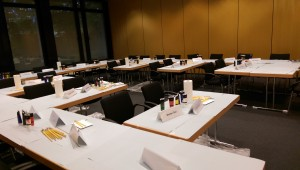 On being creative enough to convert a conference room into an art workshop!